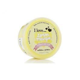 I Love Lemon Meringue tělový peeling z našlehaného cukru s vůní citronových sněhových pusinek 200 ml