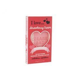 I Love Smash Bar Strawberry Cream hydratační a vyživující mýdlo s vůní jahodového krému  125 g