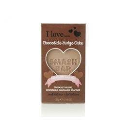 I Love Smash Bar hydratační a vyživující mýdlo s vůní čokoládového dortu  125 g Tuhá mýdla