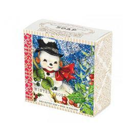 Michel Design Works luxusní mýdlo v elegantní krabičce Sněhulák Frosty  100 g Tuhá mýdla