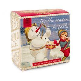 Michel Design Works luxusní mýdlo v elegantní krabičce Veselý sněhulák 100 g Tuhá mýdla