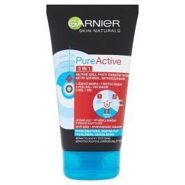 Garnier Skin Active Pure Active Intensive 3 v 1 proti černým tečkám s aktivním uhlím 150 ml Pleťové masky