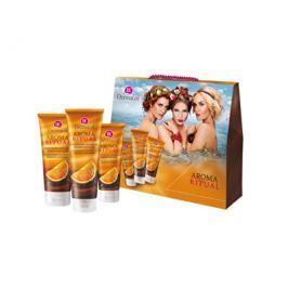 Dermacol Aroma Ritual dárková sada tělové péče pro ženy Belgická čokoláda  250 ml + 200 ml + 100 ml