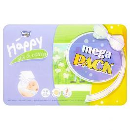 Happy  vlhčené ubrousky Hedvábí & Bavlna MEGA PACK 4 x 64