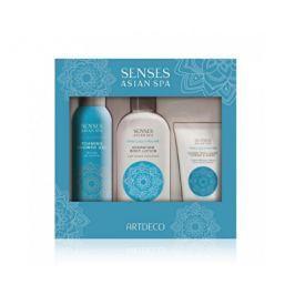 Artdeco  Senses Asian Spa dárková sada tělové péče s bílým lotosem a rýžovým mlékem 100 ml + 200 ml + 75 ml