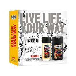 STR8 Rebel dárková sada - deodorant s rozprašovačem + sprchový gel 85 ml + 250 ml