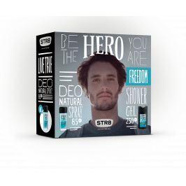 STR8 Live True dárková sada - deodorant s rozprašovačem + sprchový gel 85 ml + 250 ml