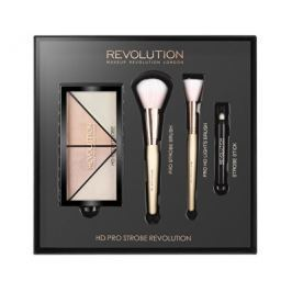 Makeup Revolution dárková sada na rozjasnění tváře  HD Pro Strobe Revolution