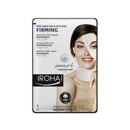 Iroha zpevňující bavlněná maska na obličej a krk s perlovým a hyaluronovým sérem  30 ml