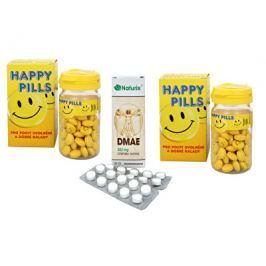 Happy Pills pilulky štěstí a DMAE ZDARMA 2 x 75 tbl. + 50 tbl.