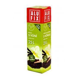 Alufix pytle na odpad zatahovací s vůní černý čaj a vanilka, 25 l 15 ks, 50 x 50 cm