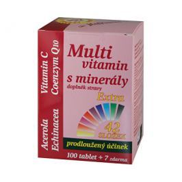 Multivitamin s minerály + extra C 107 tablet