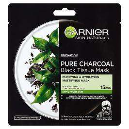 Garnier Pure Charcoal černá textilní maska s extraktem zčerného čaje 1x 28 g
