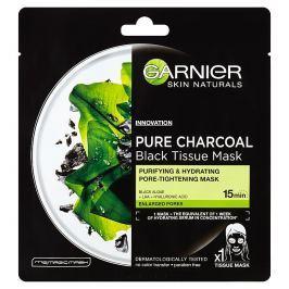 Garnier Pure Charcoal černá textilní maska s extraktem zmořských řas 1x 28 g