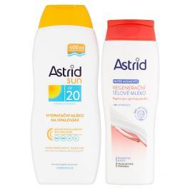 Astrid Sun hydratační mléko na opalování OF 20 400 ml + Nutri Moments regenerační tělové mléko 250 ml