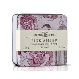 Scottish Fine Soaps Mýdlo v plechu Růžová ambra 100 g
