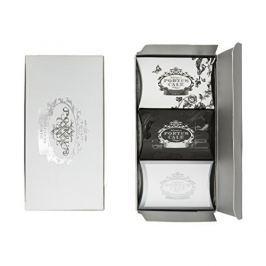 Castelbel Dárkové balení tří luxusních hydratačních mýdel White & Silver & Black 3 x 40 g