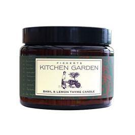 Fikkerts Vonná svíčka ve skle s vůní bazalky a mateřídoušky (Basil & Lemon Thyme Candle) 420 g