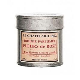 Le Chatelard Svíčka v plechu - Růže 100 g