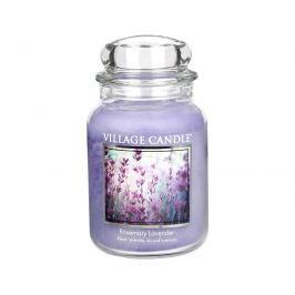 Village Candle Vonná svíčka ve skle Rozmarýn a levandule (Rosemary Lavender) 645 g