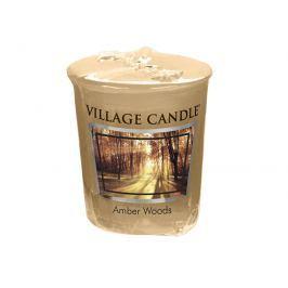 Village Candle Aromatická votivní svíčka Jantarové tóny lesa (Amber Woods) 57 g