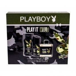 Playboy Play It Wild For Him dárková kazeta pro muže toaletní voda 100 ml + sprchový gel 250 ml + deodorant 150 ml