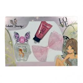 Winx Fairy Couture Flora dárková kazeta pro ženy toaletní voda 100ml + tělové mléko 75 ml + spona do vlasů