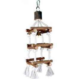 Hračka (trixie) ptáci věž se zvonkem malá 34cm