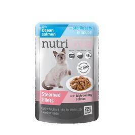 NUTRILOVE cat kaps. STERILE/losos/šťáva 85g - STERILE