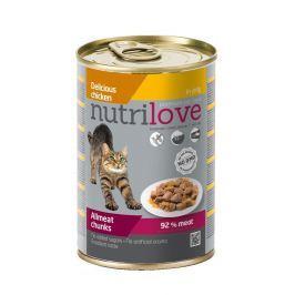 NUTRILOVE cat konz. kousky - KUŘECÍ 400g (při koupi 10ks dostanete 2ks GRATIS)