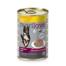 NUTRILOVE pes konz. KUŘECÍ/paté - KUŘECÍ 400g (při koupi 10ks dostanete 2ks GRATIS)