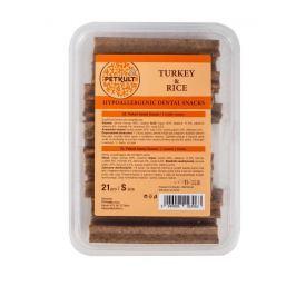 PETKULT DENTAL hypoaler. TURKEY/rice - 21ks / S