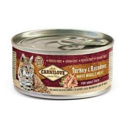 CARNILOVE cat konz. ADULT TURKEY/reindeer - 100g