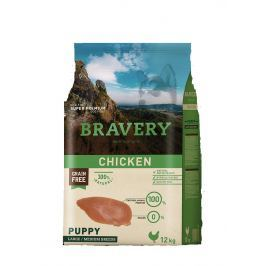BRAVERY dog PUPPY large / medium CHICKEN - 4 kg