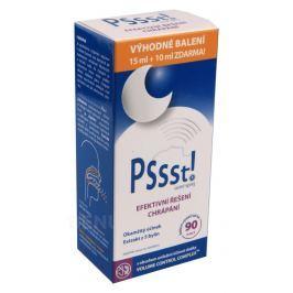 Pssst! ústní sprej proti chrápání 15ml+10ml ZDARMA