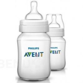 Philips Avent láhev Classic+ 2ks Transparentní 260ml