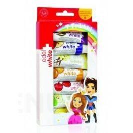 EDEL+WHITE Ovocné zubní pasty pro děti 7ks x 9.4ml Dětské kartáčky a zubní pasty