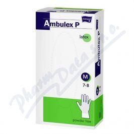 Ambulex P rukavice latexové nepudrované M 100ks Zdravotní rukavice