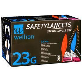 LANCETY WELLION SAFETY LANCETS 23G JEDNORÁZOVÉ BEZPEČNOSTNÍ LANCETY 23G,200KS/2ROKY