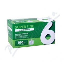 JEHLY PRO INZULÍNOVÁ PERA SUPER FINE,6MM 31G,100KS