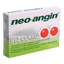 NEO-ANGIN BEZ CUKRU 1,2MG/0,6MG/5,72MG PAS 24 Léky na bolest v krku