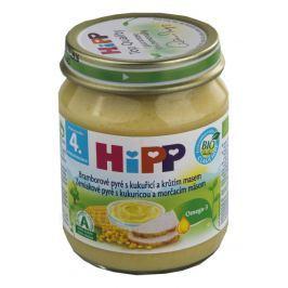 HiPP BABY BIO Br.pyré s kukuř.+krůt.m. 125g Dětské příkrmy