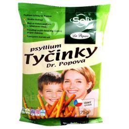 Dr.Popov Psyllium slané tyčinky s psylliem 75g Tyčinky