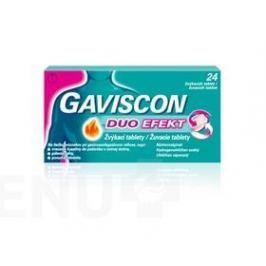 GAVISCON DUO EFEKT TBL MND 24 Přípravky na pálení žáhy