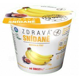 Zdravá snídaně od Obezinu banán a fíky 78g Bezlepkové cereálie a kaše