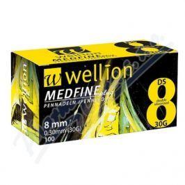 JEHLY WELLION MEDFINE PLUS PRO VŠECHNA INZULÍNOVÁ PERA VEL. 30G X 8 MM, 100 KS Inzulínová pera