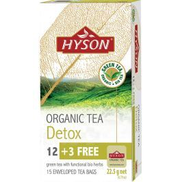 HYSON organický čaj DETOX 15x1.5mg Detoxikační čaje