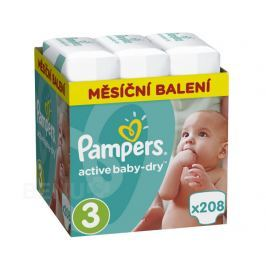 Pampers Active Baby Pleny 3 Midi 5-9kg 208 ks