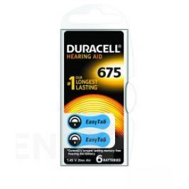 Baterie do naslouch.Duracell DA675 Easy Tab 6ks