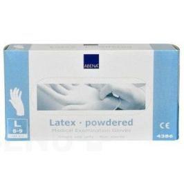 Rukavice vyšetřovací Latex L pudrované 100ks